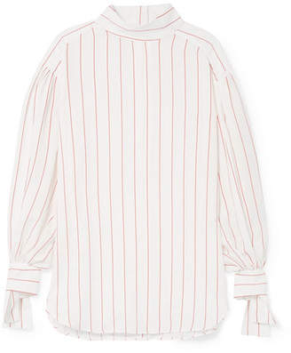 By Malene Birger Salvadorah Pinstriped Voile Blouse - Pink