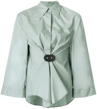 MM6 MAISON MARGIELA ruched waist shirt