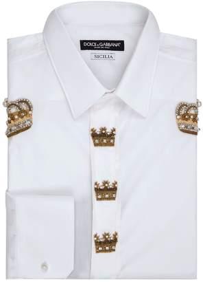 Dolce & Gabbana Crown Embellished Shirt
