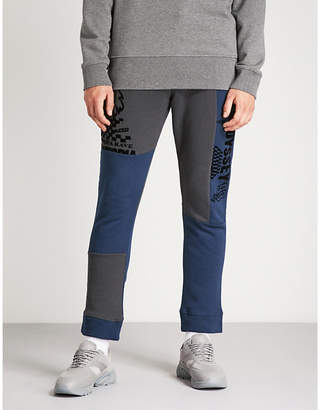 McQ Patchwork straight jersey jogging bottoms
