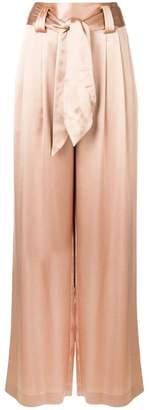 Tory Burch shiny wide-leg trousers
