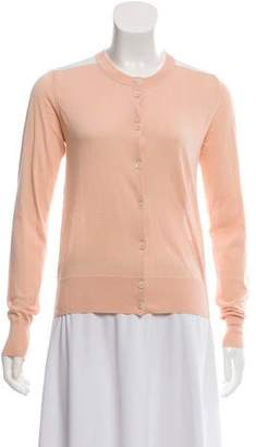 Chloé Lace-Accented Button-Up Cardigan