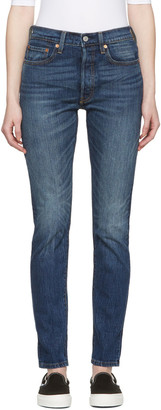 Levi's Blue 501 Skinny Jeans $100 thestylecure.com