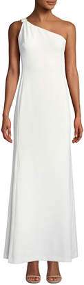 Karl Lagerfeld Paris Pearlescent One-Shoulder Evening Gown