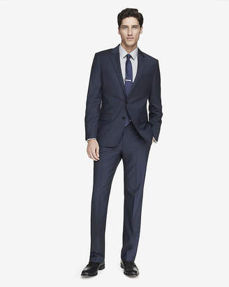 Express Modern Producer Micro Twill Navy Suit Jacket