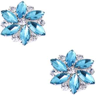 ElegantPark AJ Multi Color Sparkling Crystal Rhinestones Flower Shoes Decoration Fashion Dress Shoes Hat Handbag Clips 2 Pcs