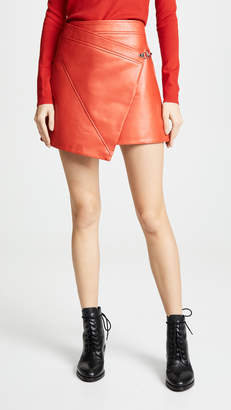 Blank Asymmetrical Vegan Leather Skirt