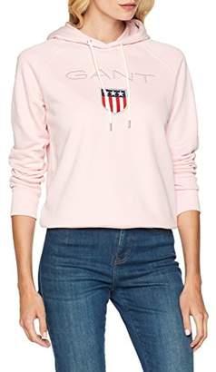 Gant Women's Shield Sweat Hoodie (California Pink), (Size: M)