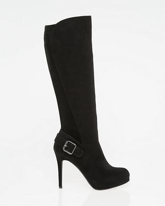 Le Château Suede-Like Almond Toe Knee-High Boot
