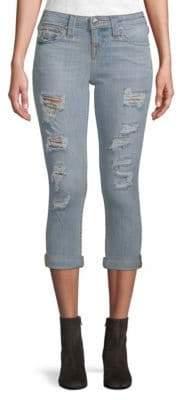 True Religion Rolled Capri Jeans