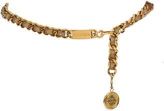 One Kings Lane Vintage Chanel Beige Lambskin Belt/Necklace