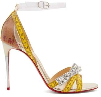 Christian Louboutin Metrisandal Open Toe Sandals - Womens - White Multi