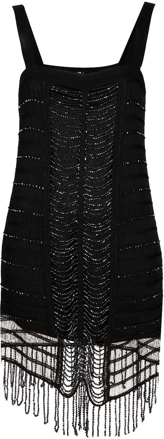 Topshop Knitted Bead Flapper Dress