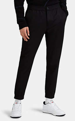 Theory Men's Woodmere Wool-Blend Flannel Trousers - Black