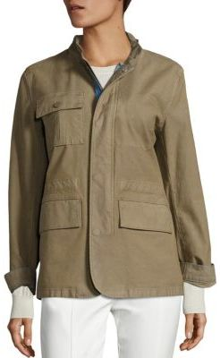 Tory Burch Lara Applique Army Jacket $395 thestylecure.com