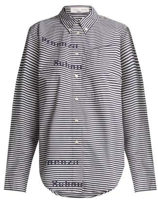 Proenza Schouler pswl Pswl - Striped Button Down Collar Shirt - Womens - Blue White