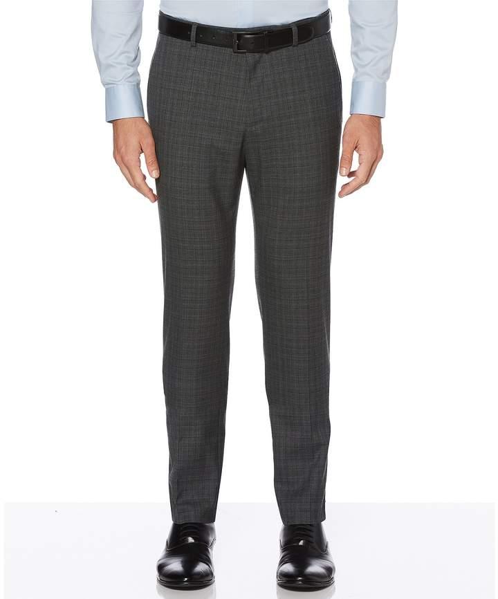 Perry Ellis Slim-Fit Plaid Wrinkle-Resistant Washable Stretch Tech Pants