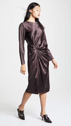 Helmut Lang Crinkle Long Sleeve Dress