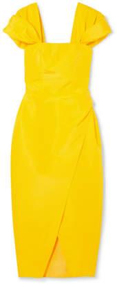 Carolina Herrera Silk-faille Midi Dress - Bright yellow