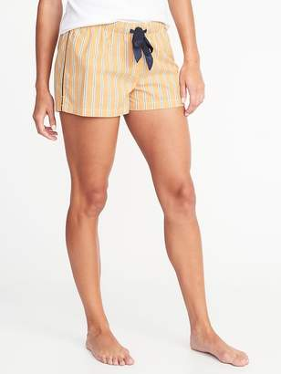 Old Navy Striped Poplin Sleep Boxers for Women - 2.5-inch inseam
