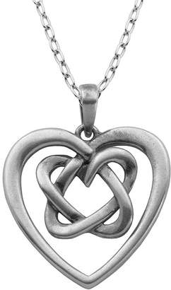 Celtic FINE JEWELRY Sterling Silver Knot Heart Pendant Necklace