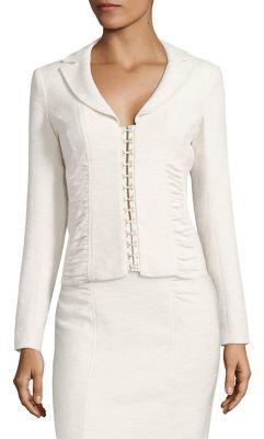 Nanette Lepore Ruched Corset Jacket $498 thestylecure.com