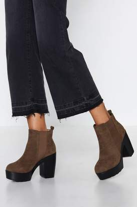 Nasty Gal Livin' It Up Faux Suede Boot