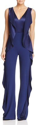 Alice + Olivia Sarandon Side-Ruffle Jumpsuit - 100% Exclusive $495 thestylecure.com