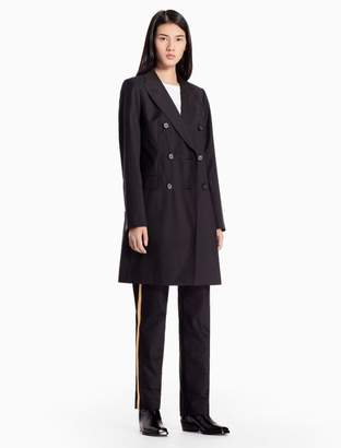 Calvin Klein wool mohair double breasted long coat