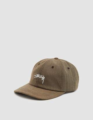Stussy Stock Herringbone Low Pro Cap in Brown 5f67af9ea0da