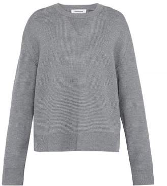 Thom Browne Stepped Hem Wool Sweater - Mens - Light Grey