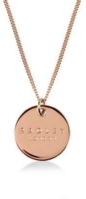 Radley Rose Gold 'Broad Street' Disc Pendant Necklace