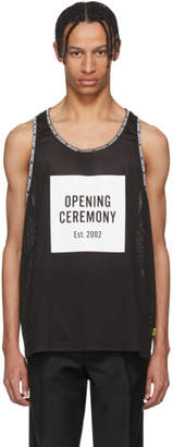 Opening Ceremony Black Limited Edition Mesh Logo Box Tank Top