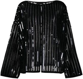 Emporio Armani sequin embroidered cardigan