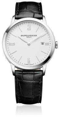 Baume & Mercier Classima 10323 Stainless Steel and Alligater-Embossed Leather Strap Watch