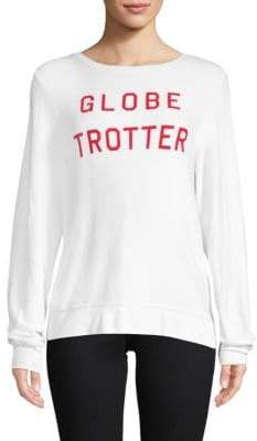 Wildfox Couture Globe Trotter Long-Sleeve Top