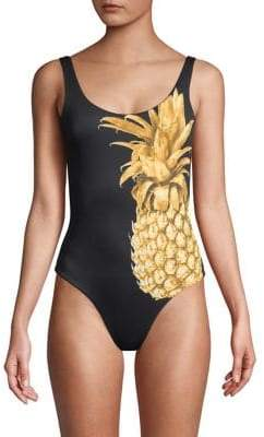 Onia Kelly One-Piece Pineapple-Print Swimsuit