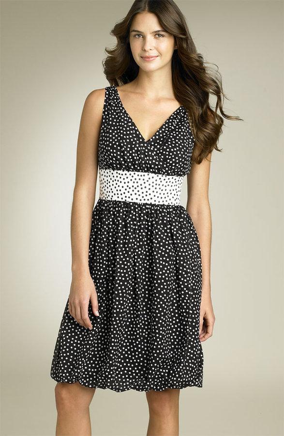 Suzi Chin Maggy Boutique Print Surplice Bodice Dress