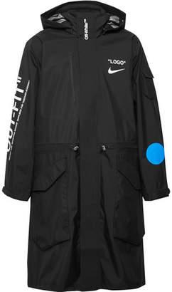 Nike Off-White Printed Shell Hooded Coat