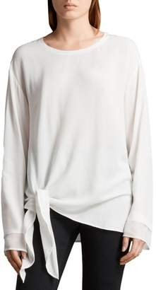 AllSaints Ricco Side Tie Top