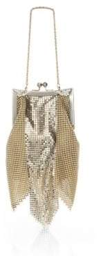Whiting & Davis Newport Goldtone Mesh Shoulder Bag