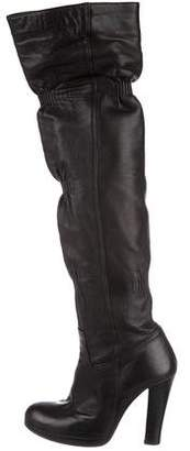 Thomas Wylde Leather Over-The-Knee Boots