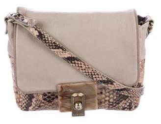 Lanvin Small Embossed Crossbody Bag