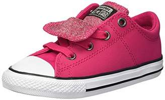 Converse Girls' Chuck Taylor All Star Glitter Leather Maddie Slip On Low Top Sneaker