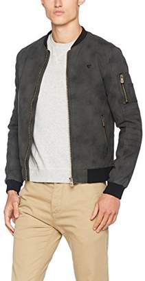 Kaporal Men's VIMES Bomber Jacket, Grey, X-L