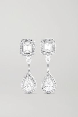 Messika My Twin Toi & Moi 18-karat White Gold Diamond Earrings - one size