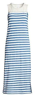 Current/Elliott Women's The Perfect Muscle Cotton Stripe Dress