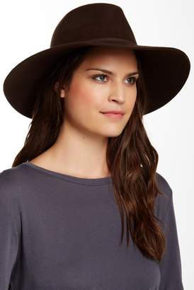 Phenix Wide Brim Wool & Genuine Leather Fedora