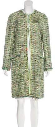 Etro Tweed Knee-Length Coat w/ Tags