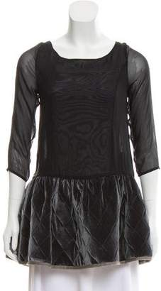 Opening Ceremony Semi-Sheer Long Sleeve Tunic